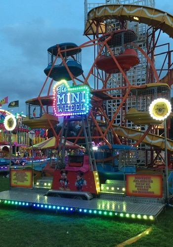 Mini Wheel Fairground Ride For Hire Or To Attend Your Event